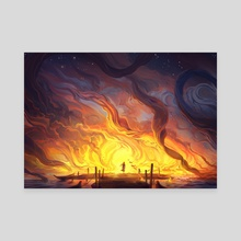 The Ocean is on Fire - Canvas by Jorge Jacinto