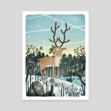Reindeer - Canvas by Brendan Kearney