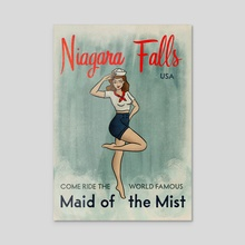 Maid of the Mist Niagara Falls - Acrylic by Molly Illustration