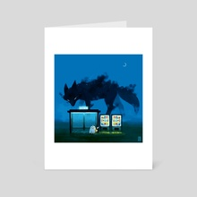 Early hours - Art Card by Indré Bankauskaité
