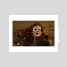 Kissed by Fire - Art Card by Dalisa Art