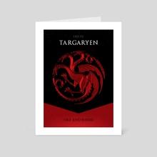 House Targaryen - Art Card by Nikita Abakumov