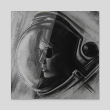 SPACE GIRL - Acrylic by m m x v