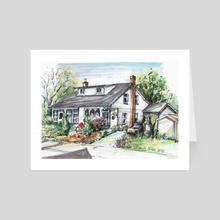 Creighton and MacNab St. Dundas - Art Card by Danuta Niton