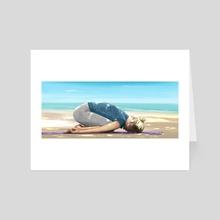 Balasana - Art Card by will battersby