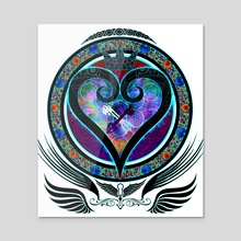 Hallowed Kingdom Hearts - Acrylic by Tyrelle Smith
