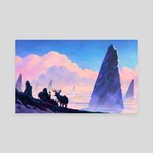 Following the Giant's trail - Canvas by Damjan Gjorgievski