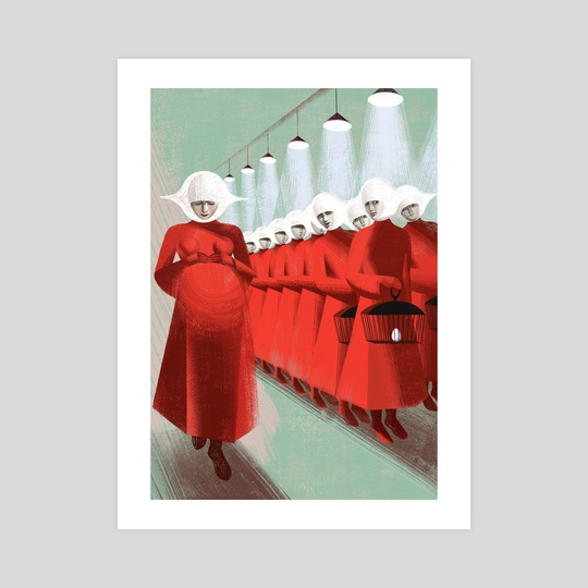 Pregnant - The Handmaid's Tale by Anna and Elena Balbusso Twins