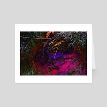 oil+water [pink] - Art Card by amanda herz