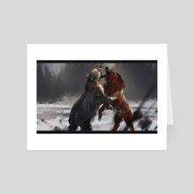Bear - Art Card by Six Foot Ant