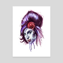 Amy Winehouse - Canvas by Bryen Desjardin