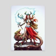 Female Sorceress - Canvas by Miroslav Petrov