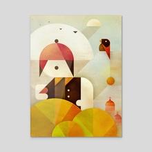 Birdman - Acrylic by Antony Squizzato