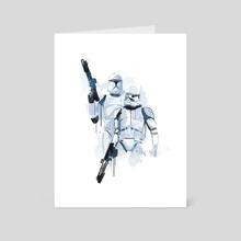 Trooper watercolor art - Art Card by Fer Ojea