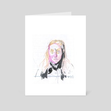 new friend - Art Card by Menah M