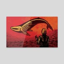 Murmuration (Red) - Acrylic by Rhiannon R.S.