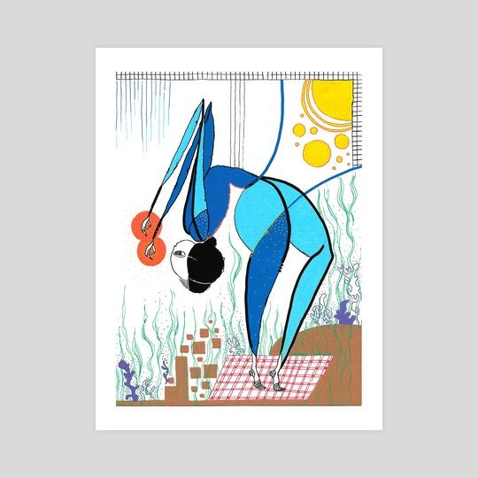 underwater yoga girl  by Hanane Lazaar