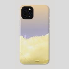 lemon meringue moonscape - Phone Case by fuschia blue