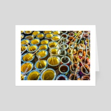 Mate Cups on Sale at Fair Street, Montevideo, Uruguay - Art Card by Daniel Ferreira Leites