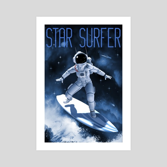 Star Surfer Two Poster by Bob Lea