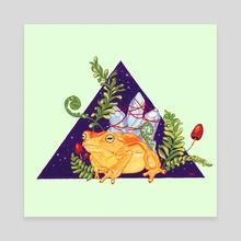 Toad Familiar Incilius Periglenes - Canvas by Kristina Wiltse