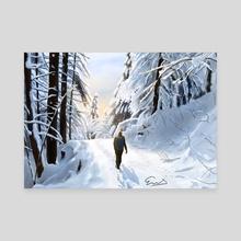 Hiking through snow - Canvas by emab_art