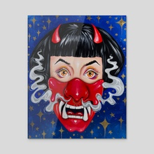 Oni - Acrylic by Jade Howard