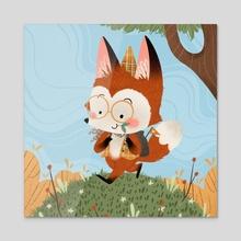 Little Fox Adventurer - Acrylic by Bee