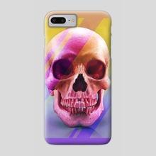 Skull Drawing Phone Case - Phone Case by Morgan Davidson