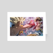 Goku V. Luffy - Art Card by CELL-MAN