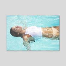 Azul - Acrylic by Jessica Levin