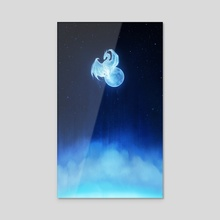 Moon Born - Acrylic by Dey Varah