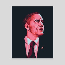 Barack - Canvas by Carlos Basabe