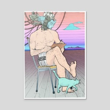 Circa 3000 - Acrylic by Nicanor Benitez