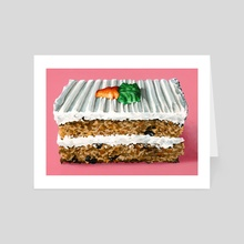 Carrot Cake - Art Card by Mary Herrera