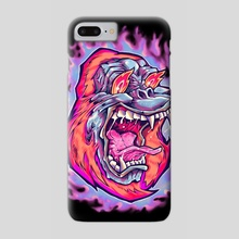 Burning Ape - Phone Case by sarod mahakiattikhun