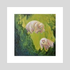Tardigrade Grotto - Art Print by Emily Valenza