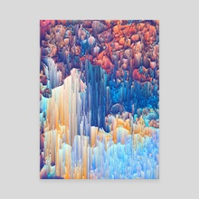 Glitches in the Clouds - Canvas by Jennifer Walsh