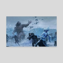 Jon snow battle - Canvas by Joshua Cairós