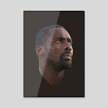 Idris Elba Low-Poly - Acrylic by Micah Denn