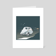 BMW Bubble Car - Art Card by Julia Ruffels