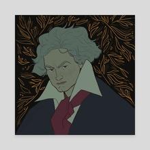 Beethoven - Canvas by Artur Pinheiro