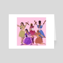 The 5 dancing princesses - Art Card by Afro Dite