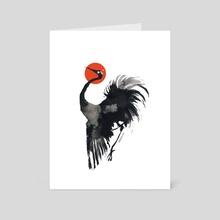 Ink Crane - Art Card by Myrntai