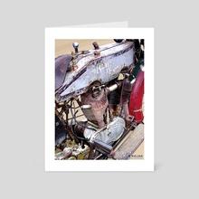 BOARD TRACK RACER Full Illustration - Art Card by Chris Nielsen