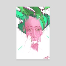 Melting in colors - Canvas by German Butze