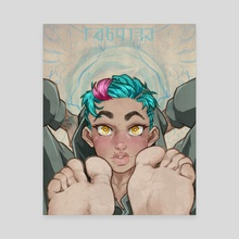 angel feets - Canvas by conley philpott