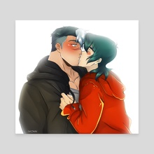 Surprise Kiss - Canvas by Iwonn