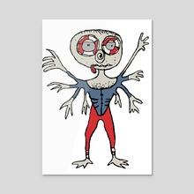 Sketchy Style Scarecrow Drawing - Acrylic by Daniel Ferreira Leites