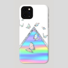 MINIMAL HOLOGRAPHIC BUTTERFLIES - Phone Case by Gloria Sánchez